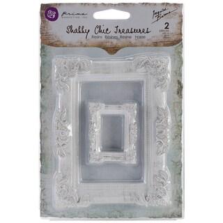 Shabby Chic Treasures Resin Embellishments-Baroque Frames 2/Pkg