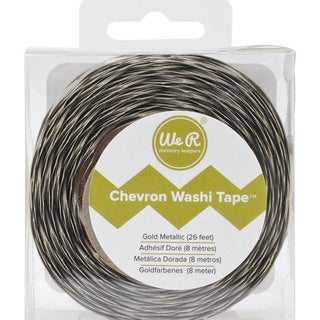 We R Chevron Metallic Washi Tape 26 Feet-Gold