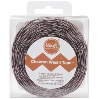 We R Chevron Metallic Washi Tape 26 Feet-Copper