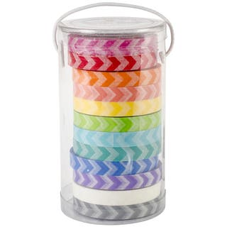 Kraft In Color Washi Tape In Tube Container-Chevron https://ak1.ostkcdn.com/images/products/9057717/P16252627.jpg?impolicy=medium