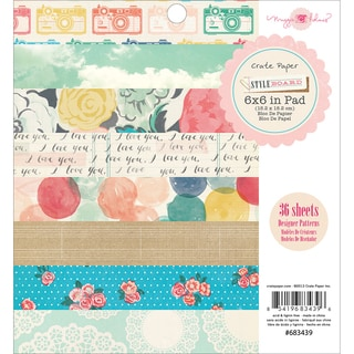 "Styleboard Paper Pad 6""X6"" 36/Sheets-Single-Sided"