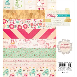 "Oh Darling Paper Pad 6""X6"" 36/Sheets-Single-Sided"