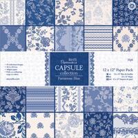 "Papermania Parisienne Blue Paper Pack 12""X12"" 32/Sheets"