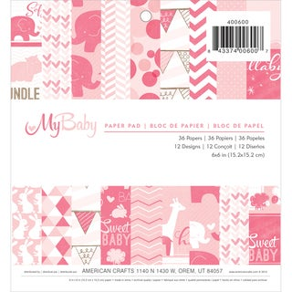 "My Baby Girl Paper Pad 6""X6"" 36/Sheets-Single-Sided"