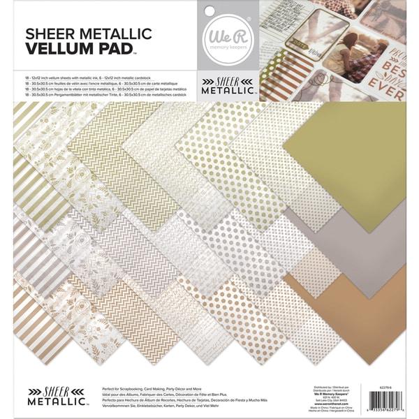 Shop Sheer Metallic Vellum Pack 12X12in 24/Sheets