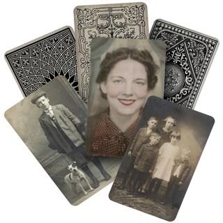 "Tim Holtz Idea-ology Found Relatives Cards 3""X5"" 24/Pkg"