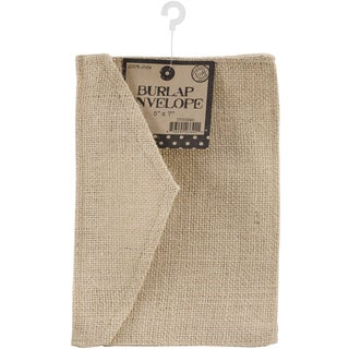 "Burlap Envelope 5""X7""-Natural"