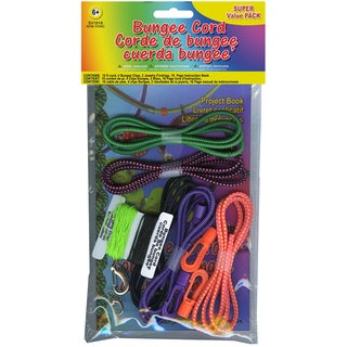 Bungee Cord Super Value Pack 5 Colors/Pkg 15ft Total