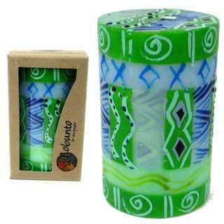 Single Boxed Hand Painted Pillar Candle - Farih Design (South Africa)