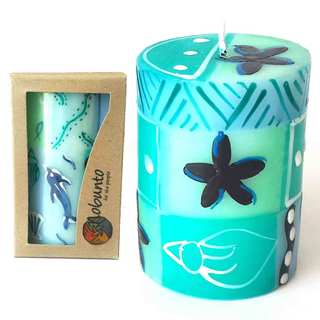 Single Boxed Handpainted Pillar Candle (South Africa)