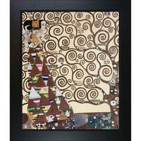 Gustav Klimt 'Expectation' Hand Painted Framed Canvas Art