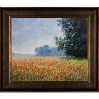 Claude Monet 'Oat Fields' Hand Painted Framed Canvas Art