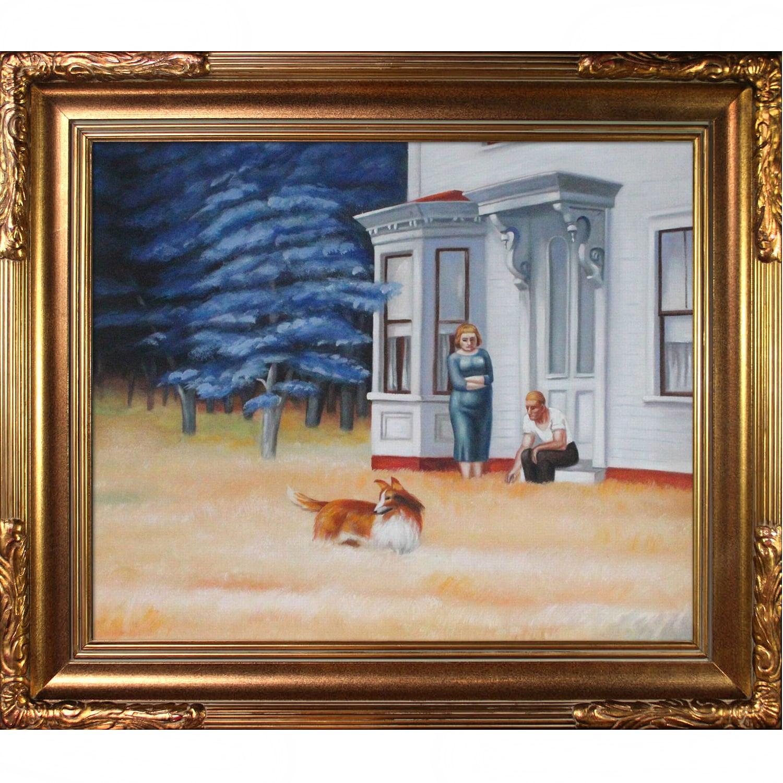 Edward Hopper Cape Cod Evening Hand Painted Framed Canvas Art Overstock 9058130