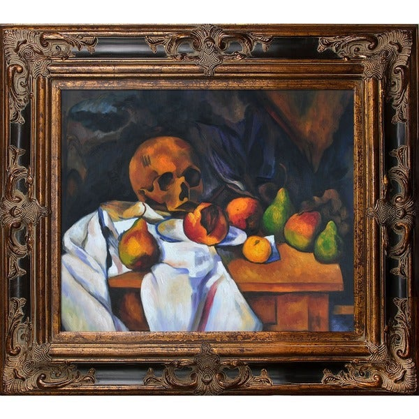 Paul Cezanne \'Nature Morte au Crane\' Hand Painted Framed Canvas Art ...