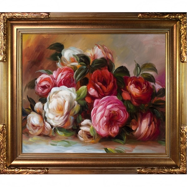 74a7a8d8cfc1 Shop Pierre-Auguste Renoir 'Discarded Roses' Hand Painted Framed ...