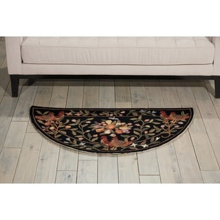 Nourison Country Heritage Black Rug (2' x 4')