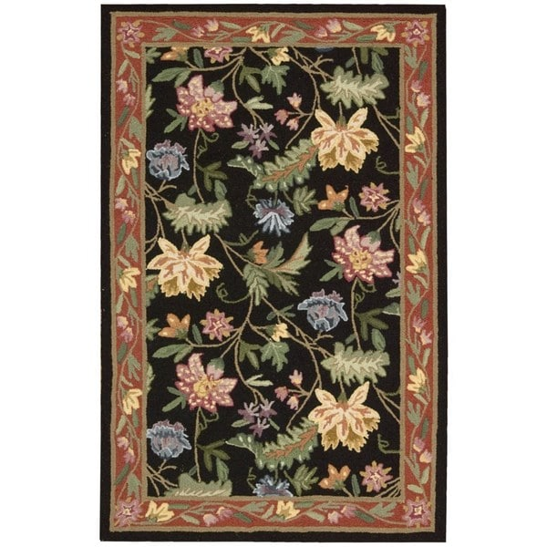 "Nourison Country Heritage Black Rug - 1'9"" x 2'9"""