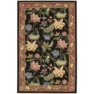 Nourison Country Heritage Black Rug (1'9 x 2'9)