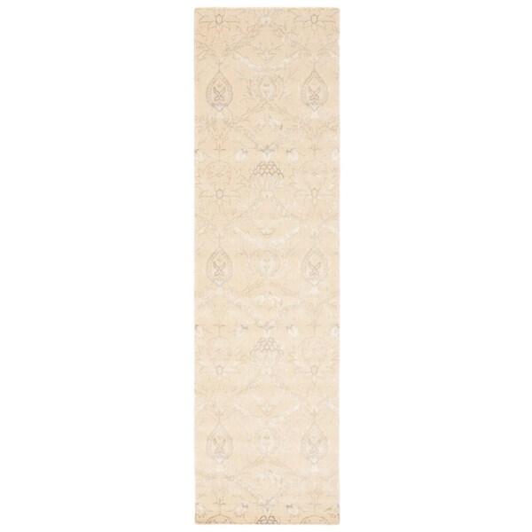 Nourison Luminance Cream Runner Rug (2'3 x 8')