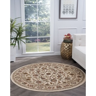 Alise Lagoon Traditional Area Rug (7'10 Round) - 7'10