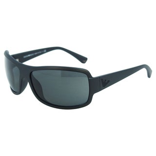Emporio Armani Men's 'EA 4012 5042/87' Polarized Wrap Sunglasses