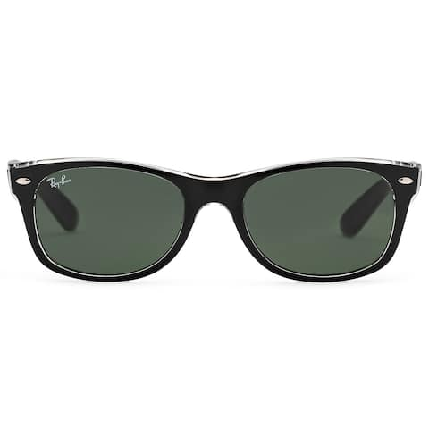 7f6bca362cd77 Ray-Ban New Wayfarer RB2132 Men Transparent Green Classic Sunglasses