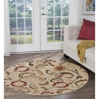 Alise Lagoon Transitional Area Rug (5'3 Round) - 5'3