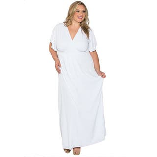 Sealed With a Kiss Women's Plus Size White Short Sleeve Maxi Dress|https://ak1.ostkcdn.com/images/products/9060792/Sealed-With-a-Kiss-Womens-Plus-Size-White-Short-Sleeve-Maxi-Dress-P16255283.jpg?impolicy=medium