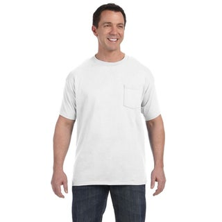 Hanes Men's White Tagless Comfortsoft Pocket Undershirt (Pack of 12) (More options available)