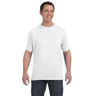 Hanes Men's White Tagless Comfortsoft Pocket Undershirt (Pack of 12)