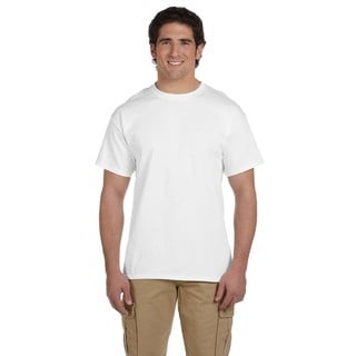 Gildan Men's White Ultra Cotton Tall Short Sleeve Undershirts (Pack of 12)