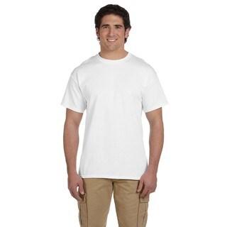 Gildan Men's White Ultra Cotton Tall Short Sleeve Undershirts (Pack of 12)