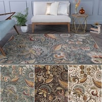 Alise Rugs Caprice Transitional Floral Area Rug - 5'3 x 7'3