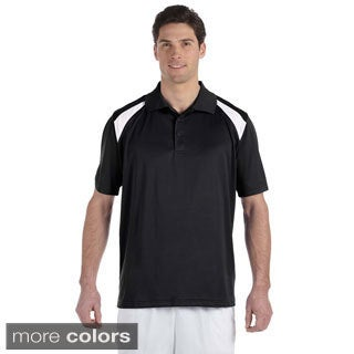 Men's Colorblocked Polytech Moisture-wicking Polo