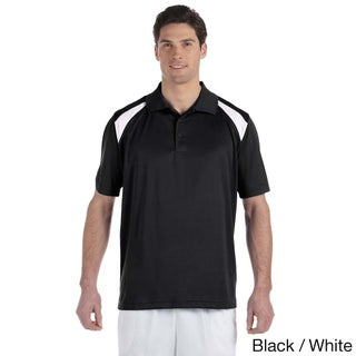 Men's Colorblocked Polytech Moisture-wicking Polo (More options available)