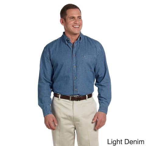 Harriton Men's Denim Long Sleeve Shirt