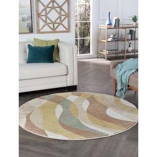 Alise Decora Transitional Area Rug (5' 3 Round)