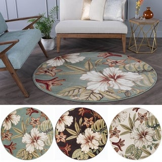Alise Caprice Transitional Area Rug (5' 3 Round) (2 options available)