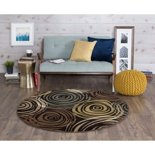 Alise Decora Contemporary Area Rug (5' 3 Round) - 5'3