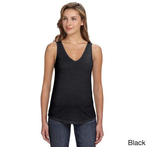 Bella Women's Flowy Relaxed Fit V-neck Tank