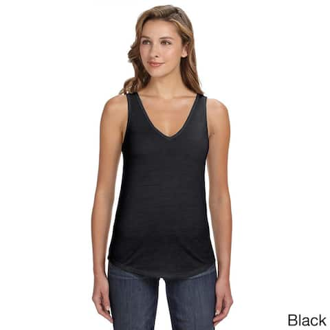 Bella Women's Flowy Relaxed Fit V-neck Tank