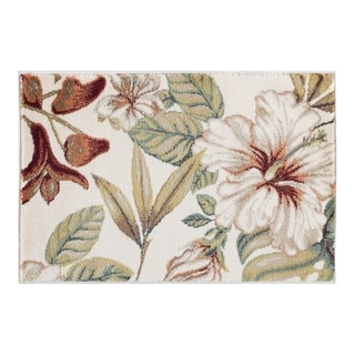 Alise Rugs Caprice Transitional Floral Scatter Mat Rug - 2 x 3 (ivory)