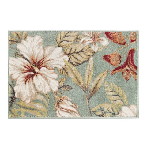 Alise Rugs Caprice Transitional Floral Scatter Mat Rug - 2' x 3'