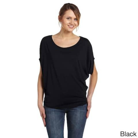 Women's Flowy Circle-draped Top