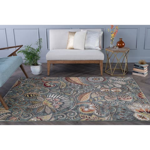 Alise Rugs Caprice Contemporary Abstract Runner Rug