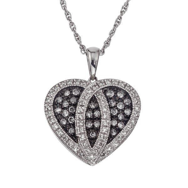 Silvermist Sterling Silver 1 2ct Tdw Diamond Heart Necklace By Ever One