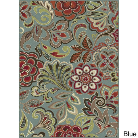 Alise Rugs Decora Transitional Floral Area Rug