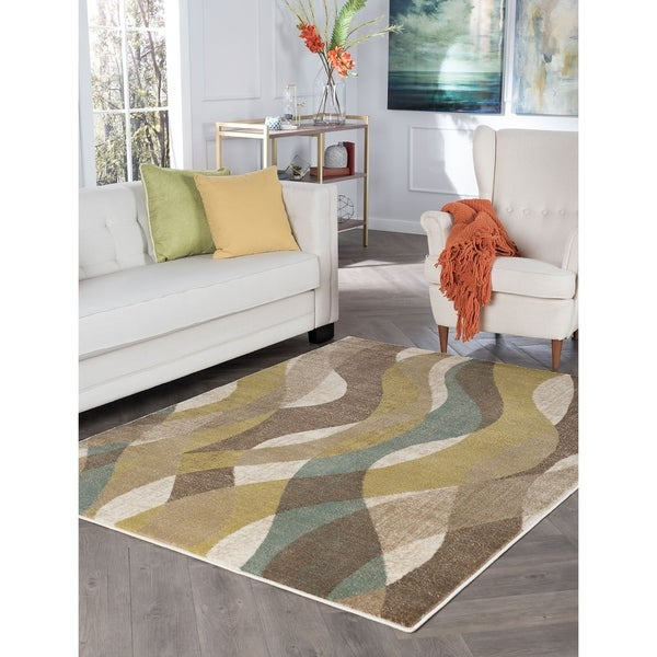 Alise Rugs Decora Transitional Abstract Area Rug - 7'10 x 10'3