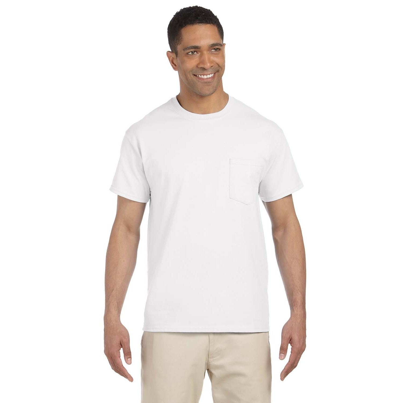 Gildan Mens Ultra Cotton Pocket Undershirts (pack Of 6)