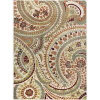 Alise Rugs Decora Transitional Paisley Area Rug - 7'10 x 10'3